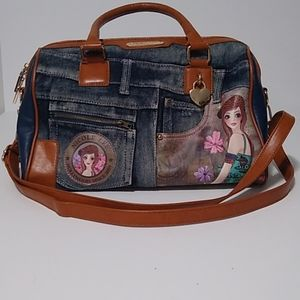 Nicole Lee Large Denim Crossbody Splendid Bag